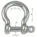 """Manille inox forgée lyre """"standard"""""""