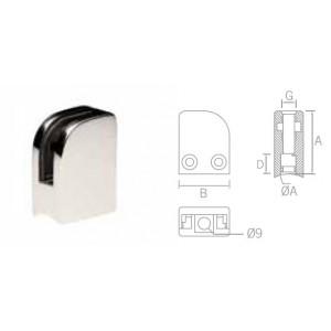 Pince à verre de sécurité (pose sur tube rond)