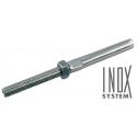 Terminaison à sertir filetée droite - INOX System