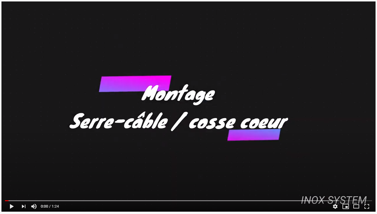 montage serre cable